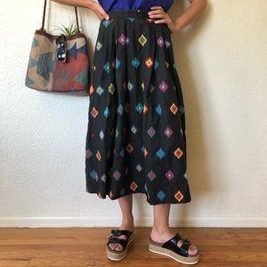Vintage Aztec High Waisted Southwestern Skirt